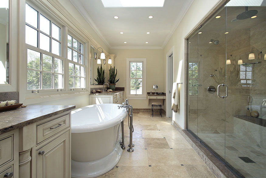 MASTER BATH WITH STAND ALONE TUB
