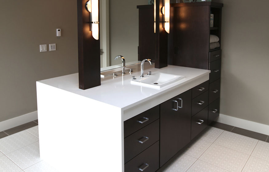 BATHROOM VANITY WITH WATERFALL