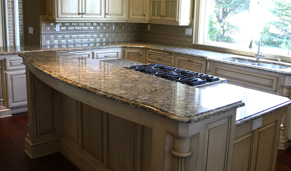 GIALLO NAPOLEONE GRANITE COUNTERTOP WITH OGEE EDGE