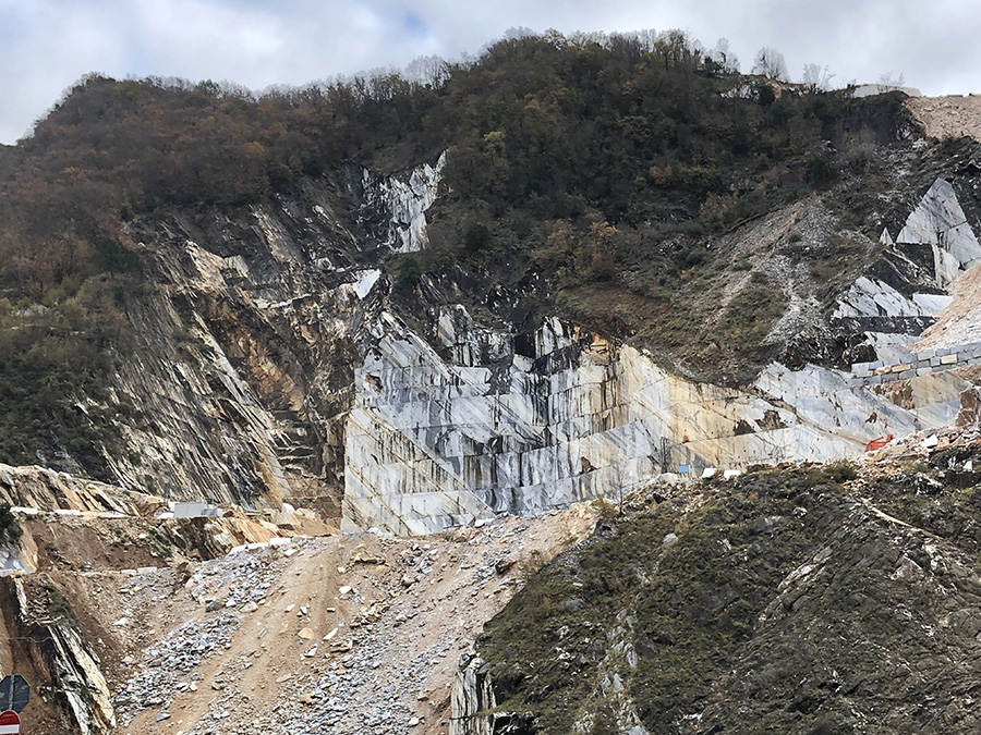 marble quarry in Carrara,Italy