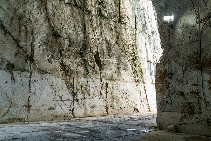 A look inside the marble quary